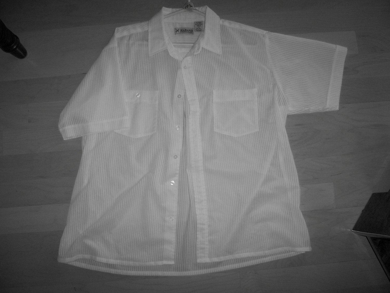 Men's White Short Sleeve Shirt by Haband  BNK595