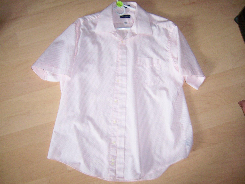 Men's Pink Short Sleeve Shirt BNK597