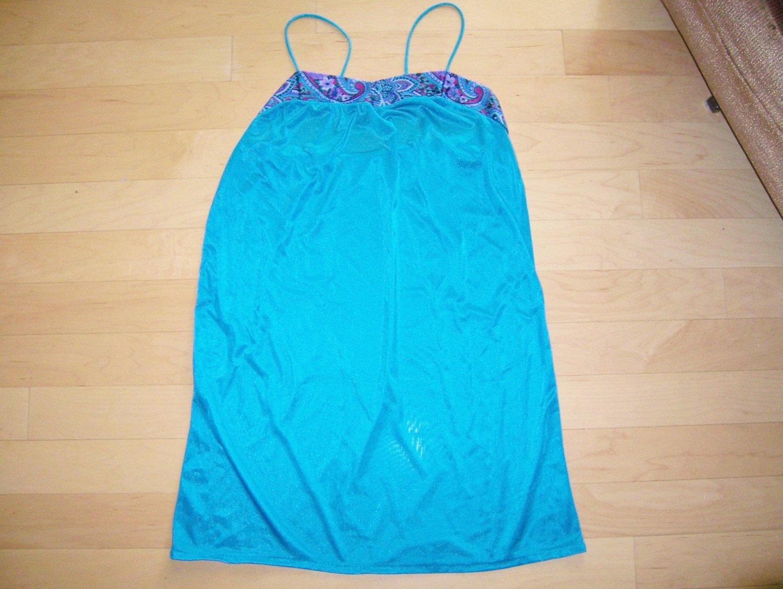 Blue Waist Length Nightie BNK616
