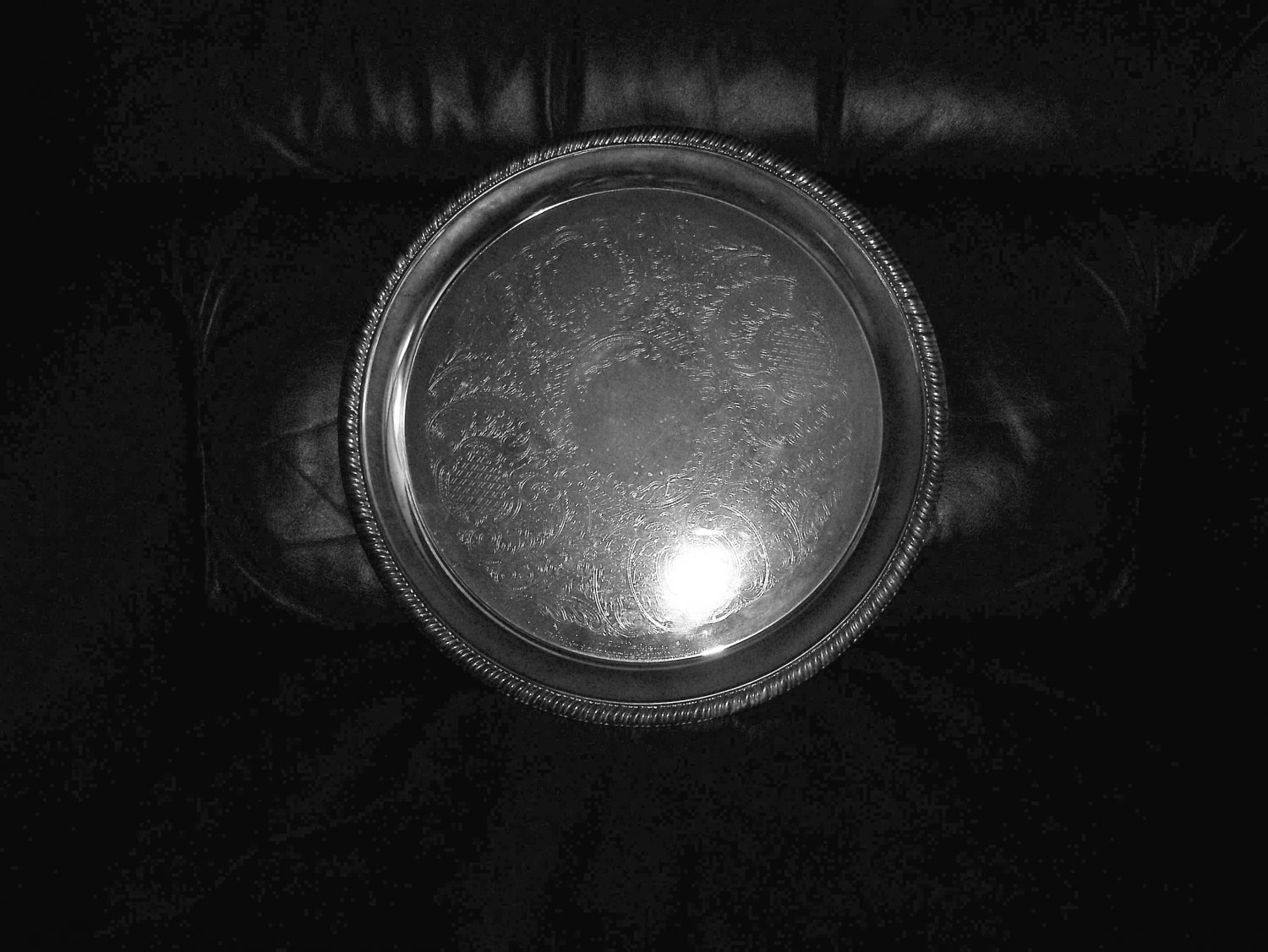 """Silver Serving Plate 12"""" BNK658"""