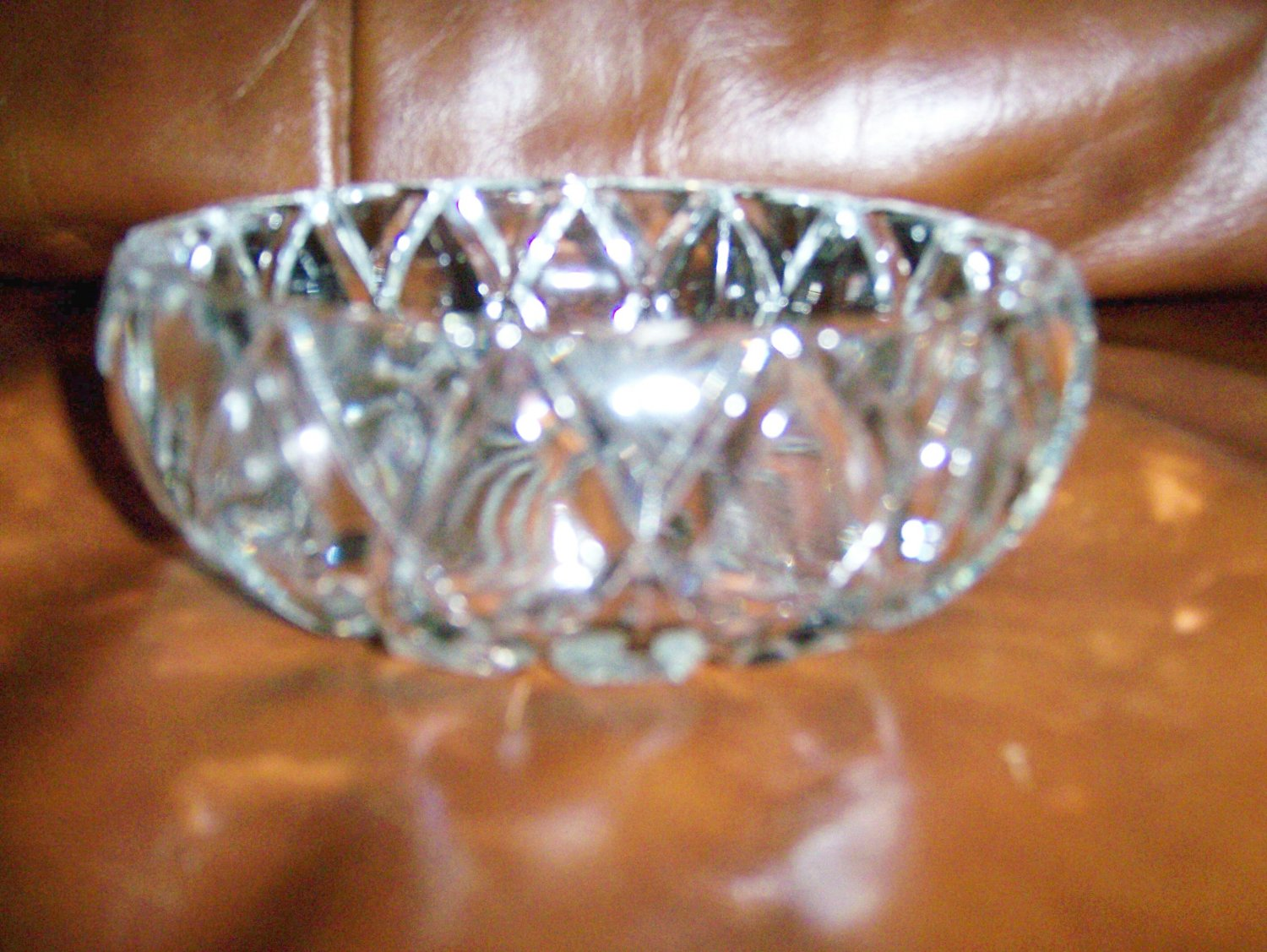 Decorated Glass Candy/Nut Bowl BNK671