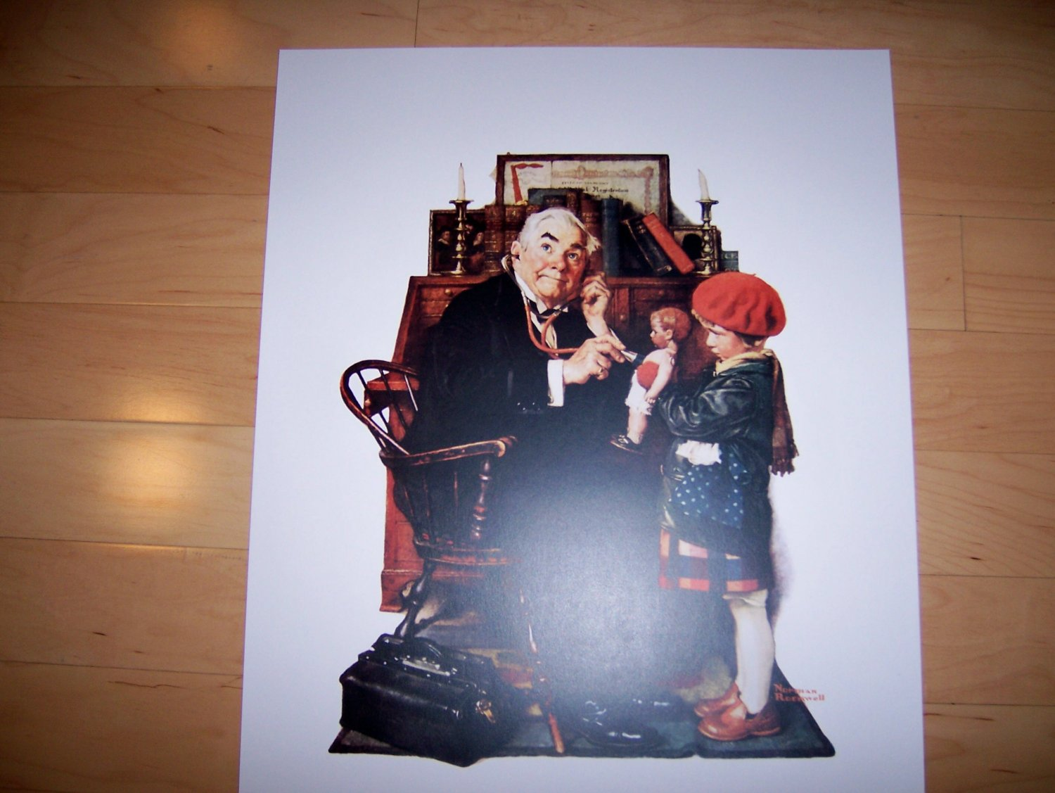"""Norman Rockwell """"Dr Visit"""" BNK725"""