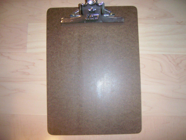 Clip Board 9x12 Rust Resistant H/D Board BNK740