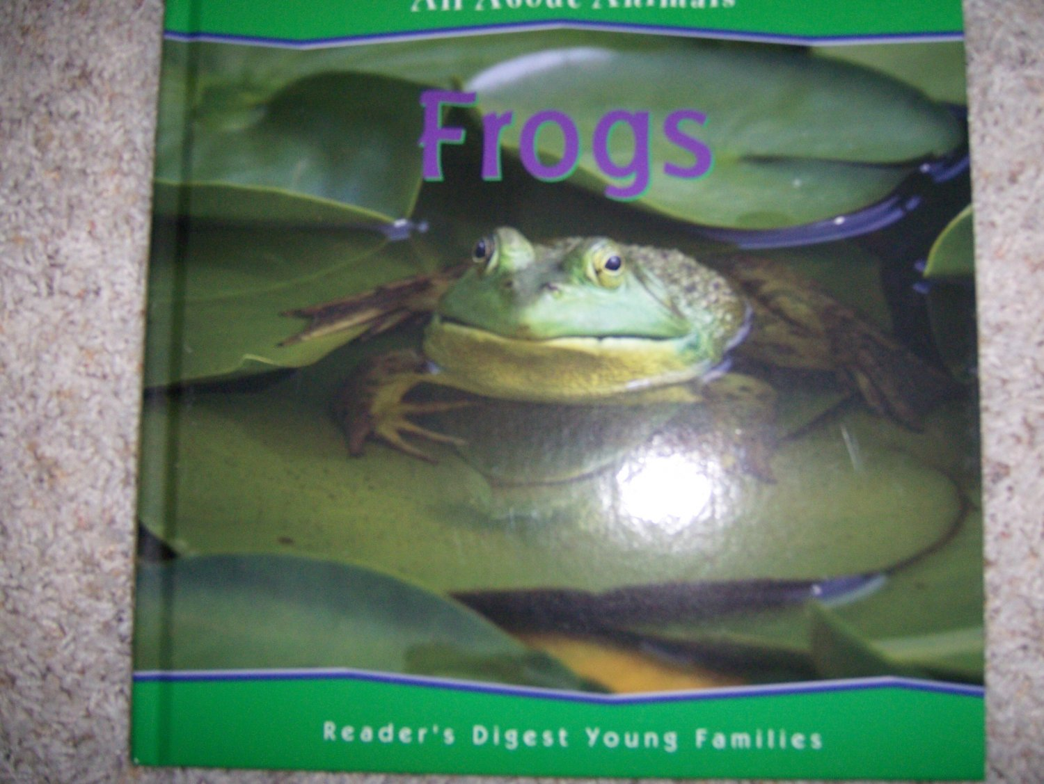 """All About Animals """"Frogs"""" Collectors Illustrated Hardcover Book BNK743"""