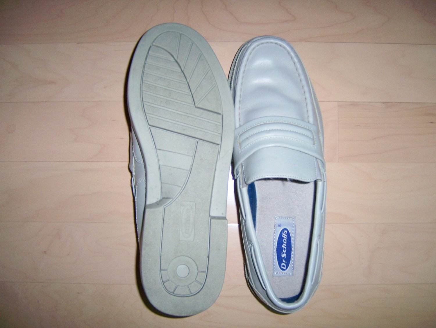 Dr Scholls 13 3E Light Grey Loafers BNK752