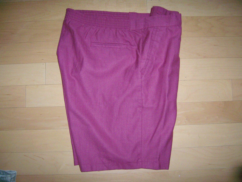 Men's Shorts Burgandy by Alan Stuart Size 46 BNK759