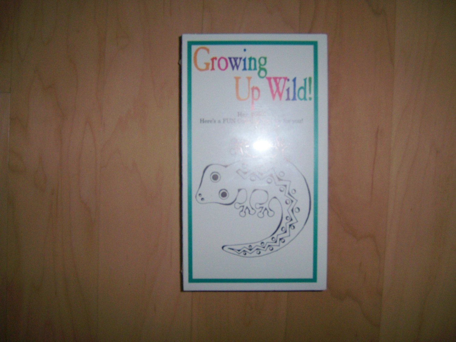 VHS Leaping Lizards Growing Up Wild Coloring Activity BNK775