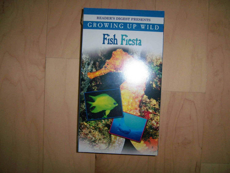 VHS Fish Fiesta Growing Up Wild BNK778