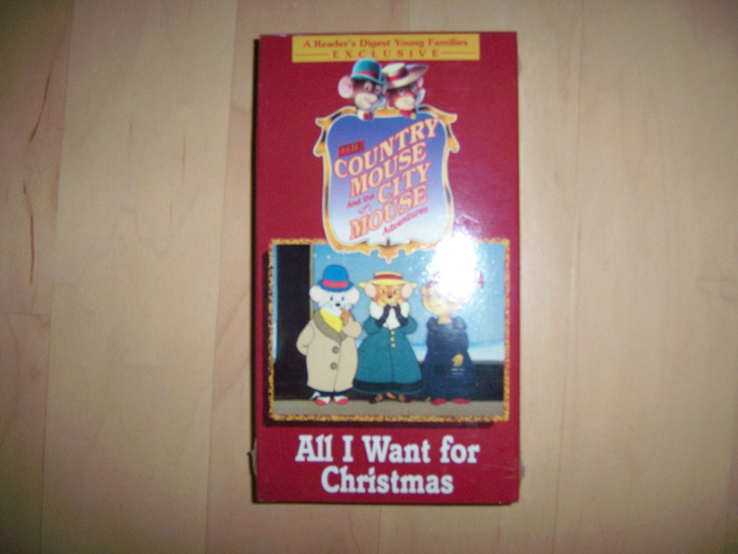 VHS Country & City Mouse All I Want For Christmas BNK780