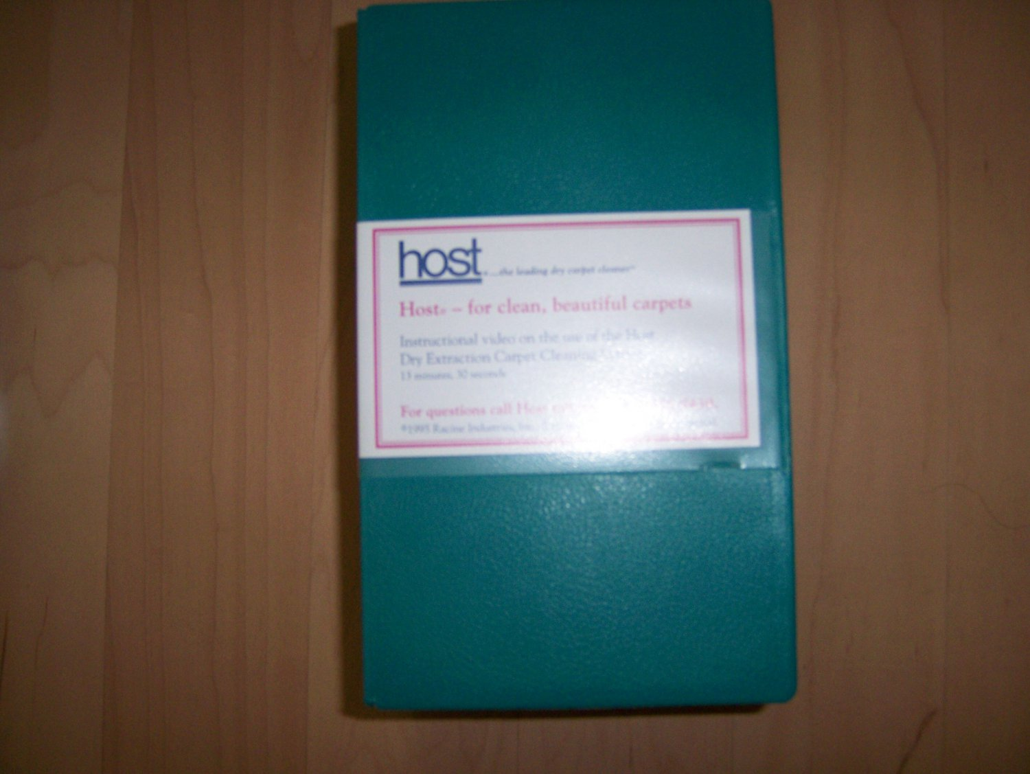 VHS Host Dry Cleaning Information BNK820