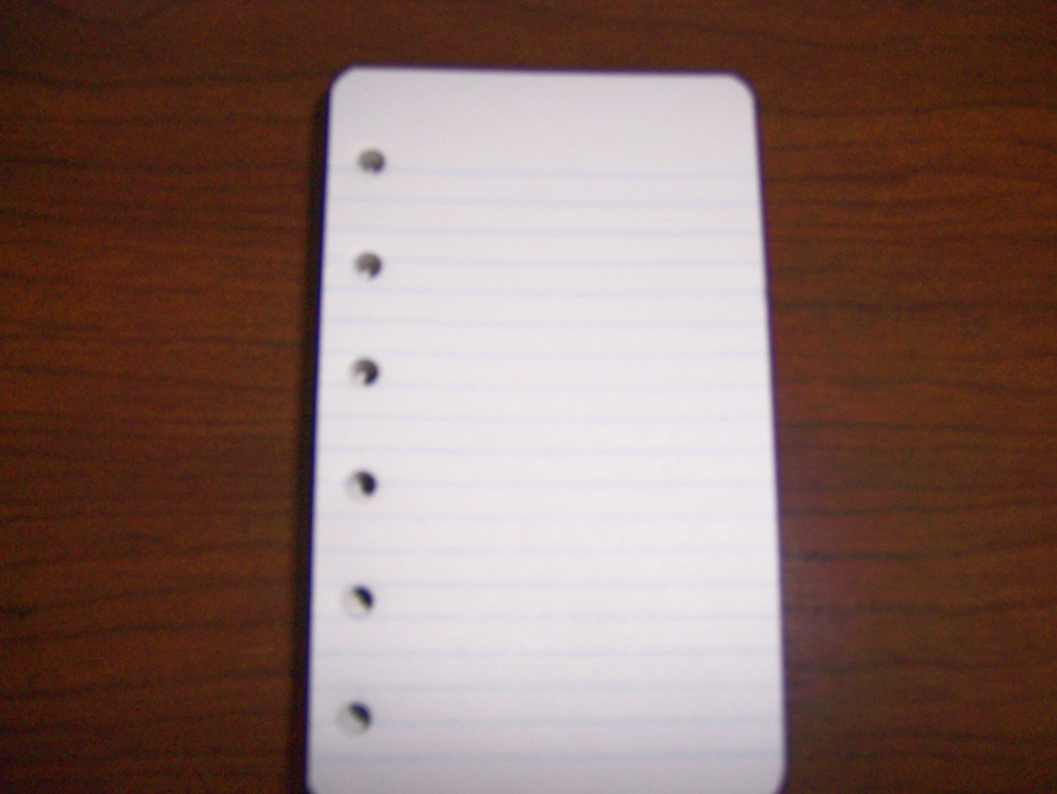 White Note Pads  3x5 Single Sheets With Holes To Fit Any Binder BNK957