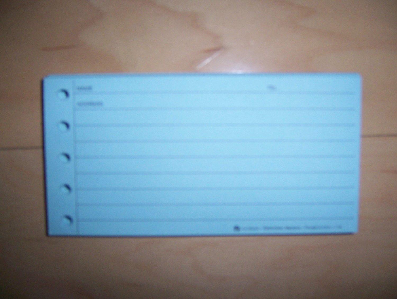 Name/Address/Phone Sheets BNK975