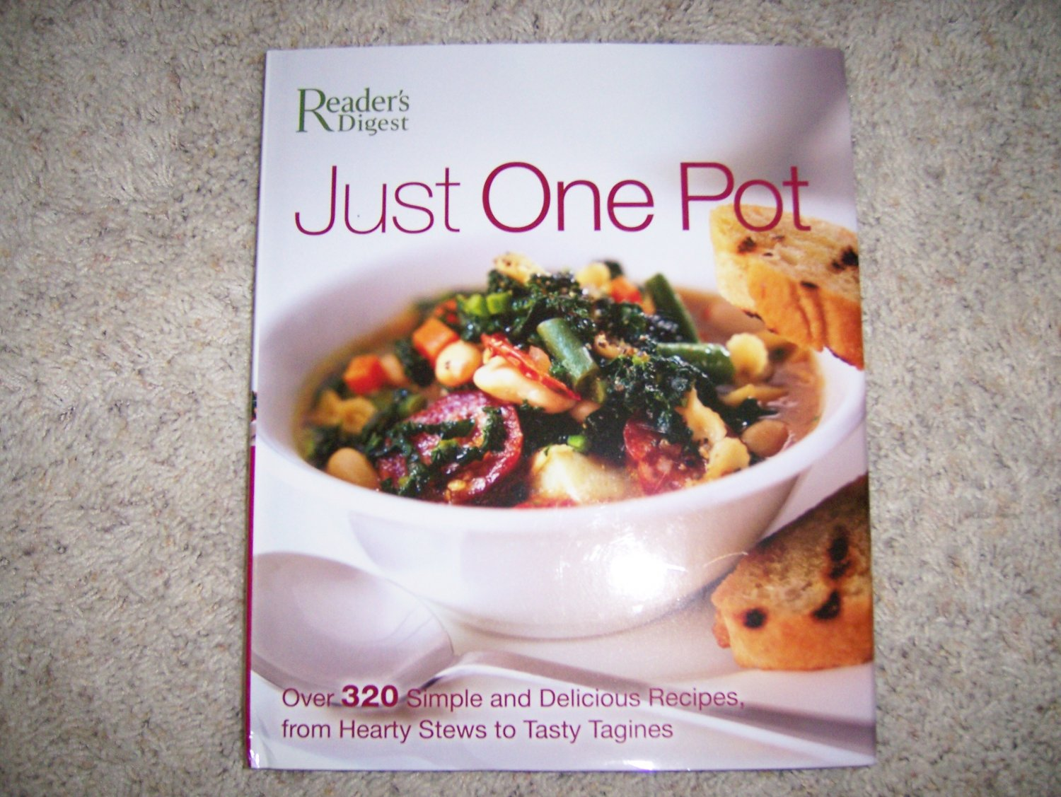 """Just One Pot"" Cook Book Hardcover w Jacket  BNK989"