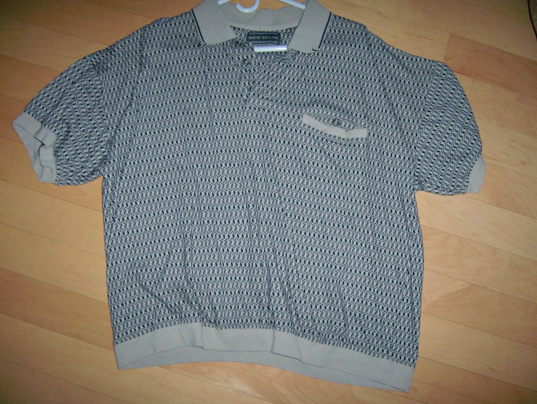 Polo Shirt XXL Med Gray  By David Taylor BNK1021