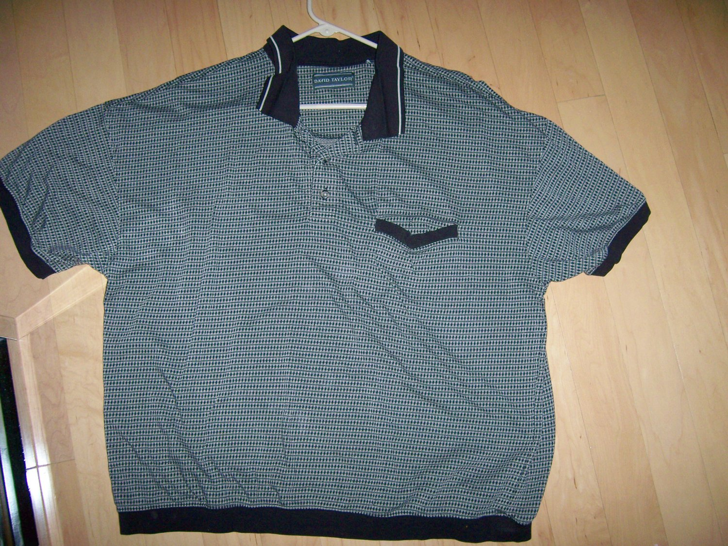 Polo Shirt Black/Tan  XXL By David Taylor  BNK1022