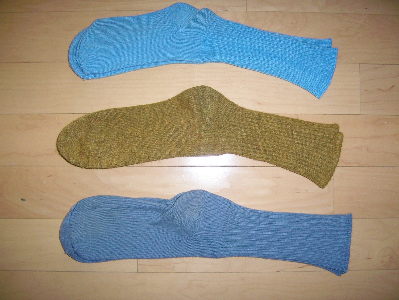 Men's Socks Cotton 10-13  Blue-Gold-Grey  BNK1040