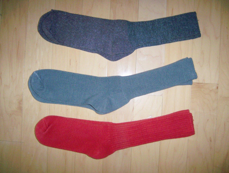 Men's Socks 10-13 Cotton   Green-Grey-Red BNK1041