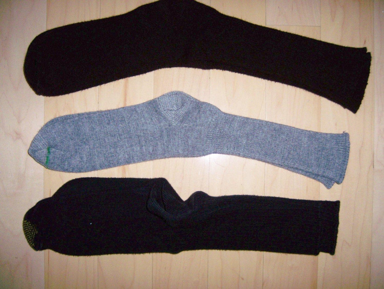 Men's Socks 10-13 Cotton  Black - Grey -Brown BNK1042