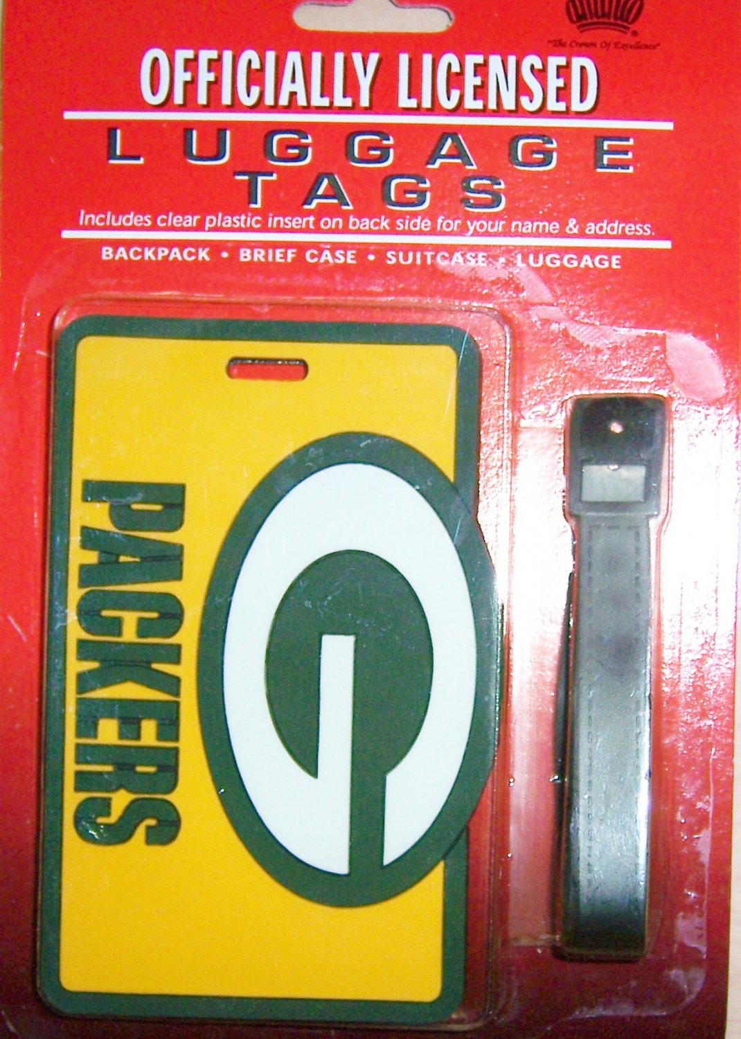 GreenBay Packers Luggage Tag by Fan Gear  BNK1055