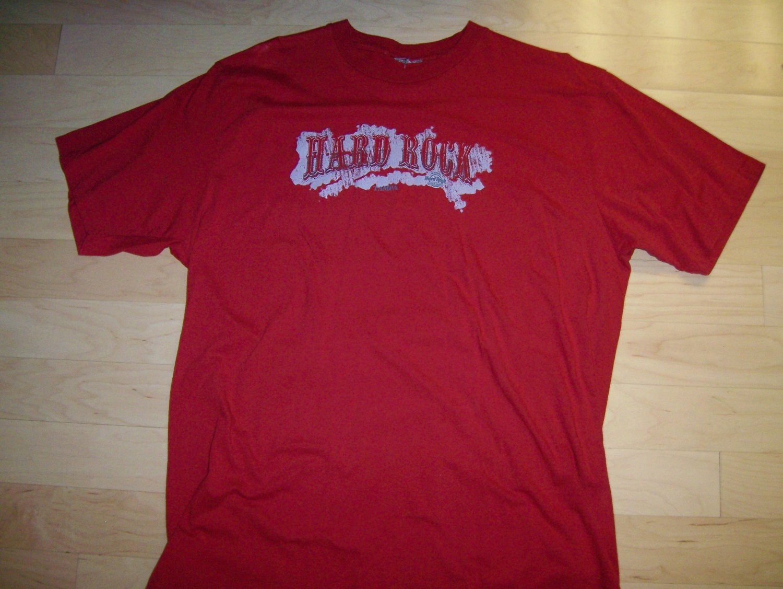 T Shirt Red Hard Rock Logo 2XL  BNK1058