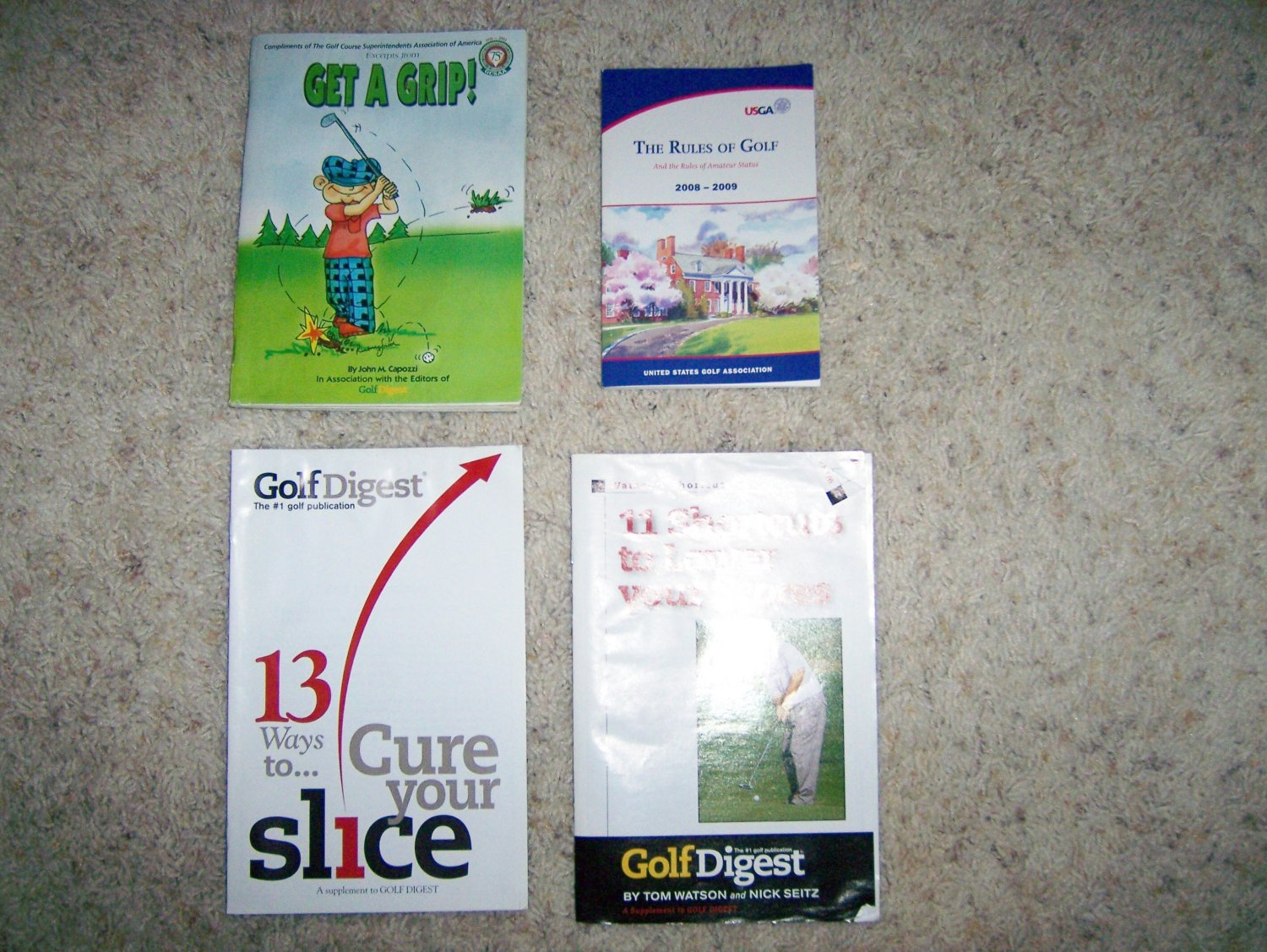 Four Golf Books Incl Golf Rules BNK1089