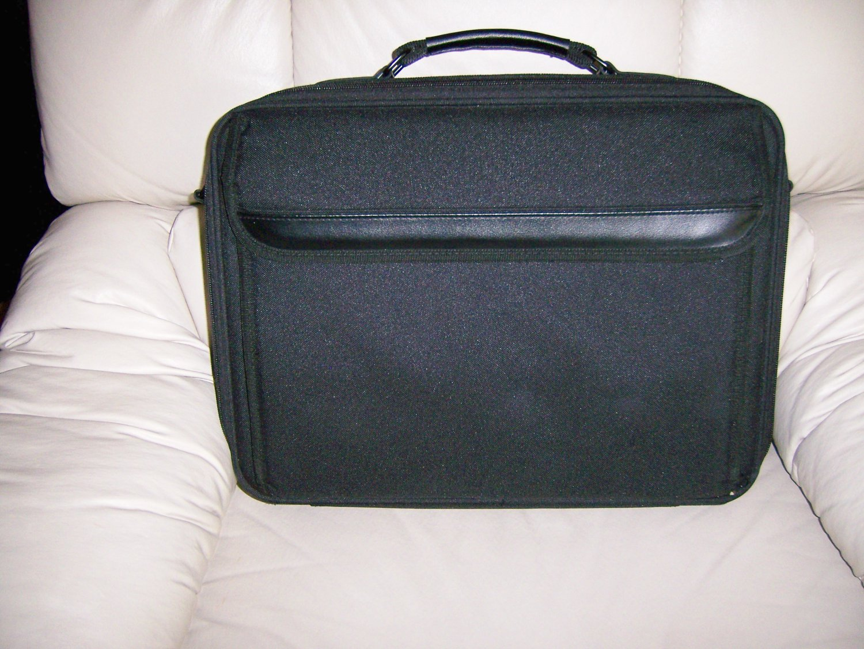 Black Breifcase Style  Leather Travel Bag BNK1101