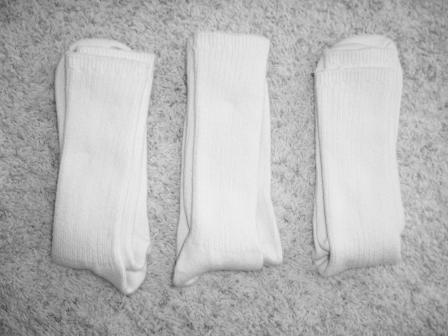 Men's Crew Socks Size 10-13 White BNK1111