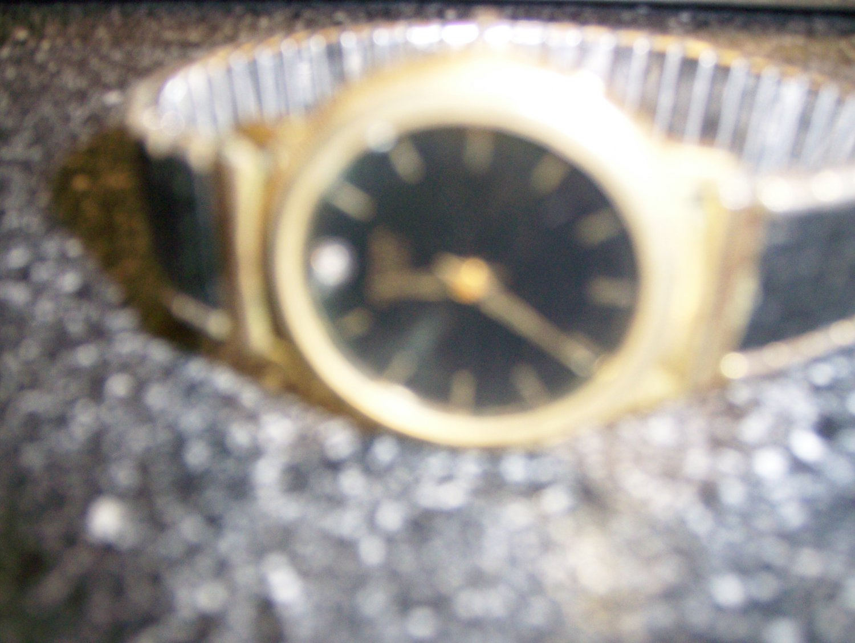 Men's Bulova Quartz Blk/Gold Watch W Expansion Band BNK1122