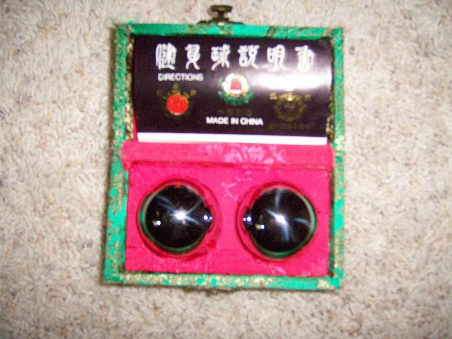 Chinese Therapy Balls & Information BNK1125
