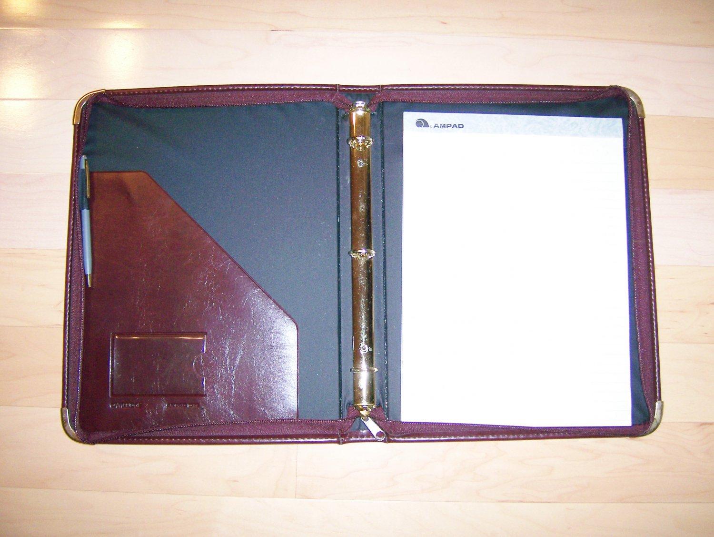 Burgandy Folder W 11x8 Note Pad & Calculator  BNK1154