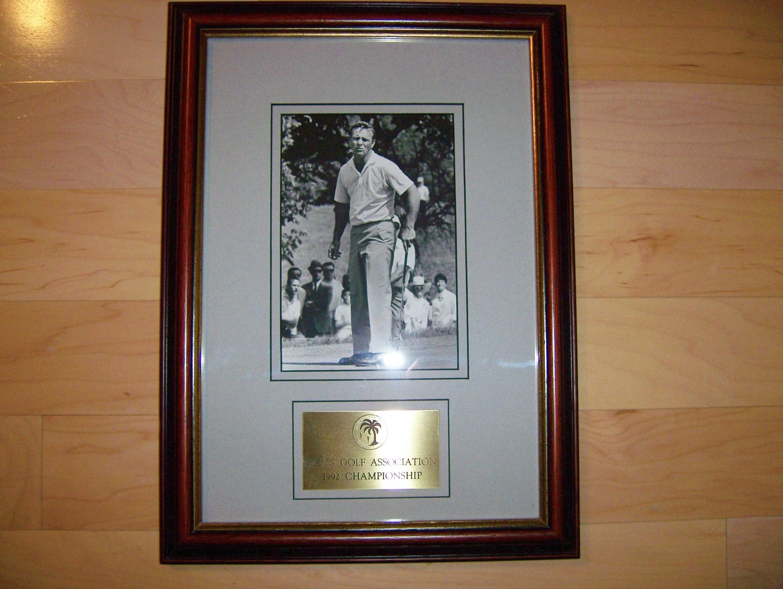 Arnie Palmer Framed Photo In Younger Days BNK1160