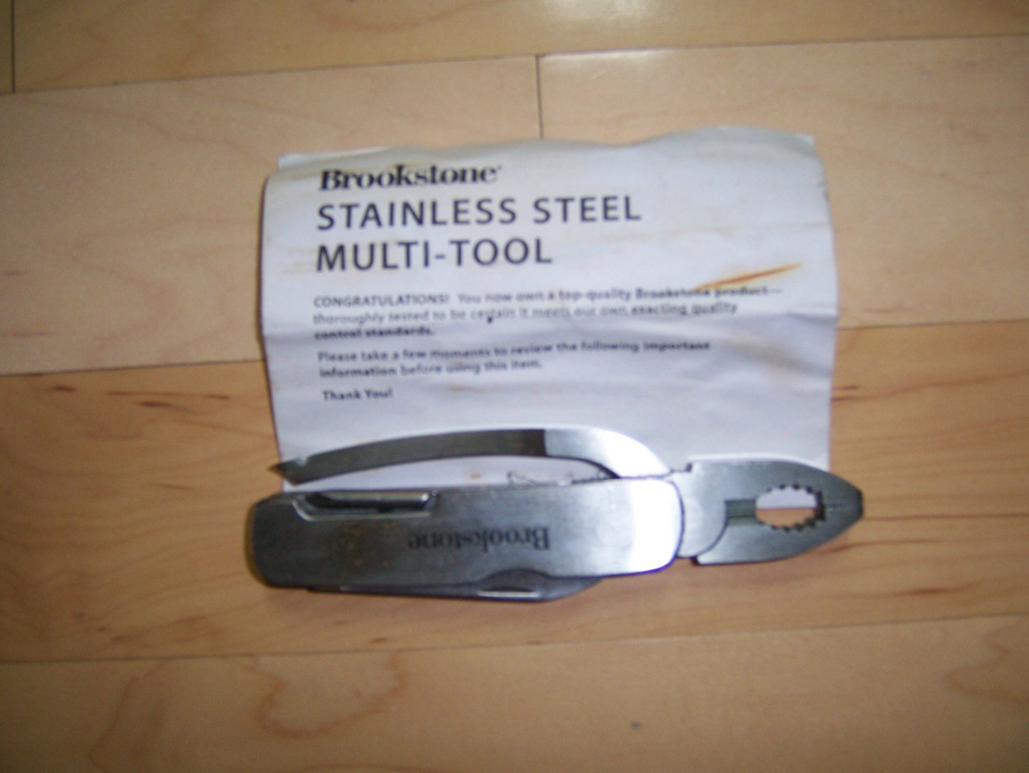 Stainless Steel Multi Tool By Brookstone BNK1185