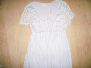 Ladies Housecoat Short Sleeves Creame Color Size 8 BNK1216
