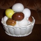 CAndy Dish Porcelain  W Eggs Cover  BNK1374