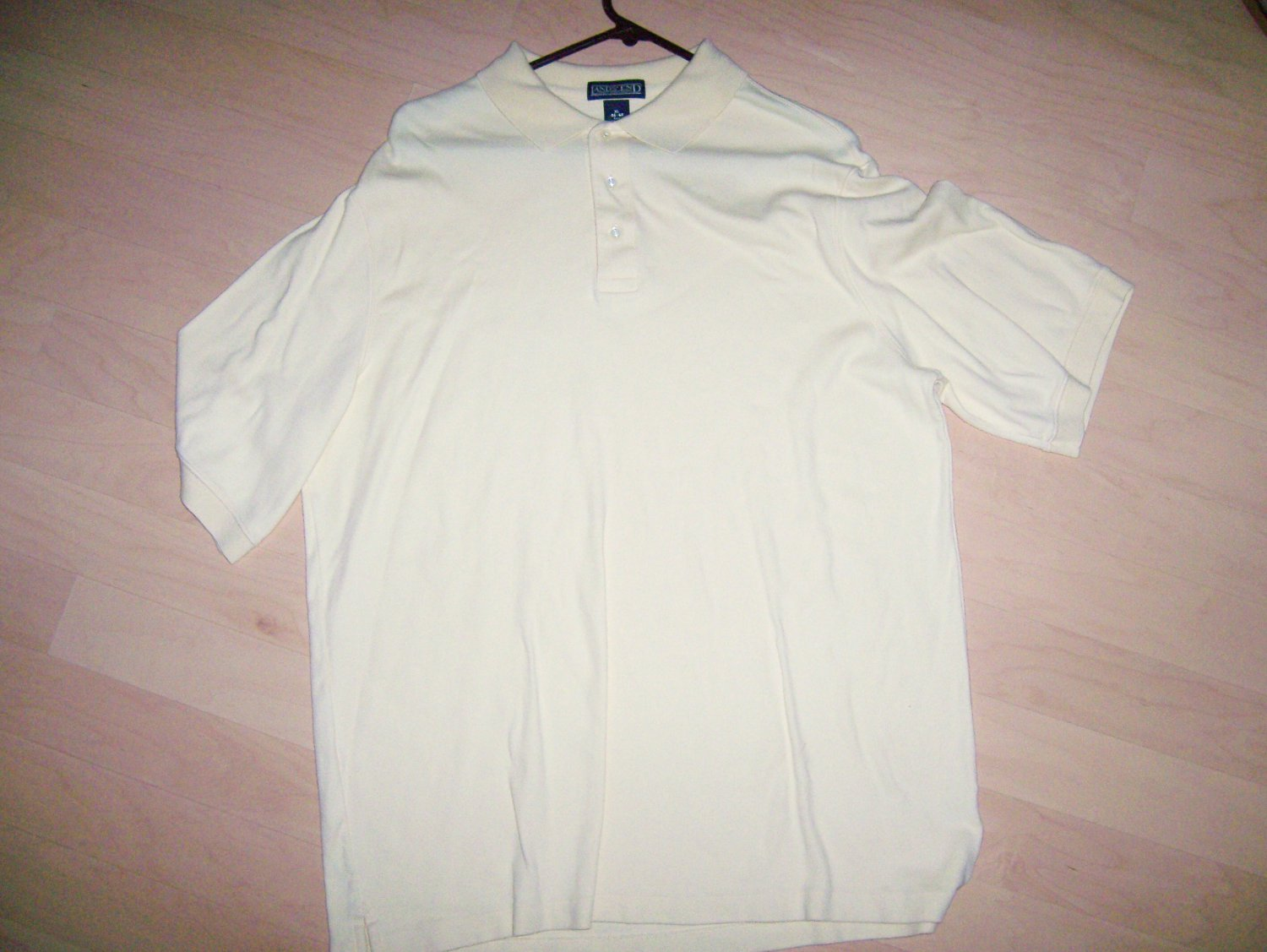 Men's Golf Shirt Yellow XL Tall By Lands End  BNK1399