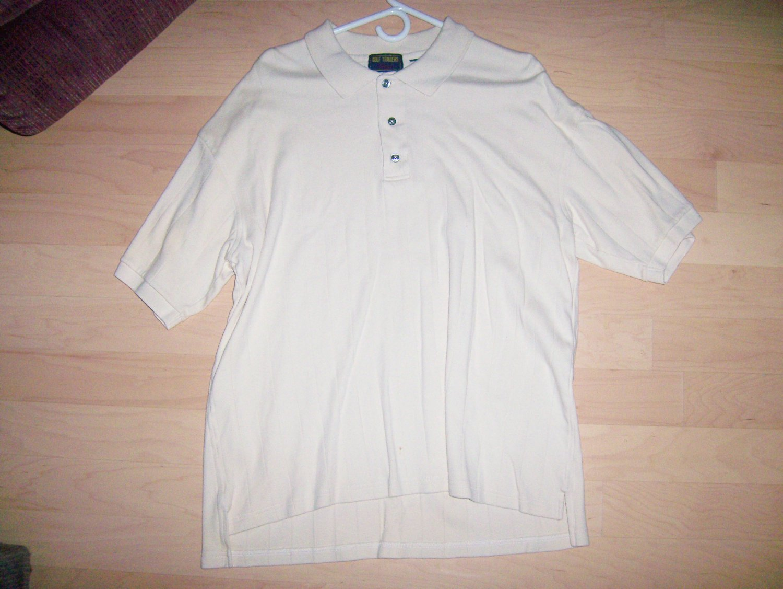 Men's Golf Shirt XXL Tall By Dockers Tan   BNK1401