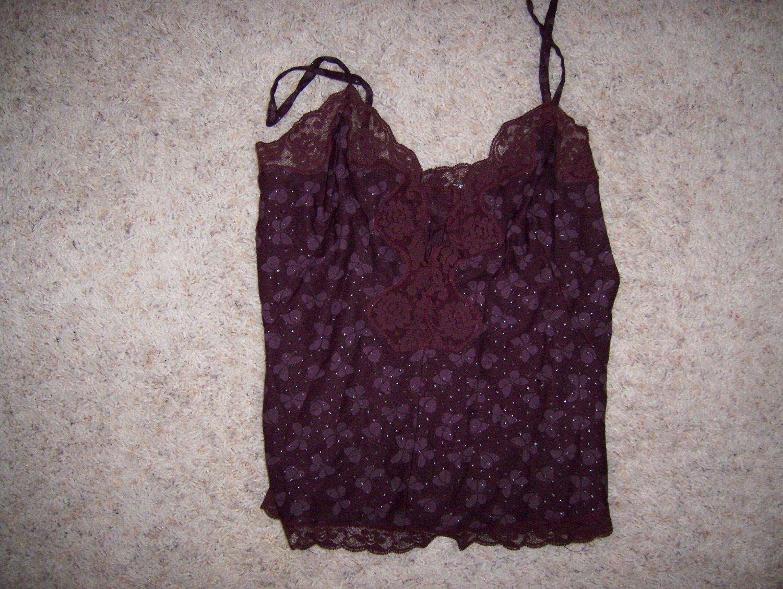 Camisole Dark Lilac Nylon & Lace BNK1428