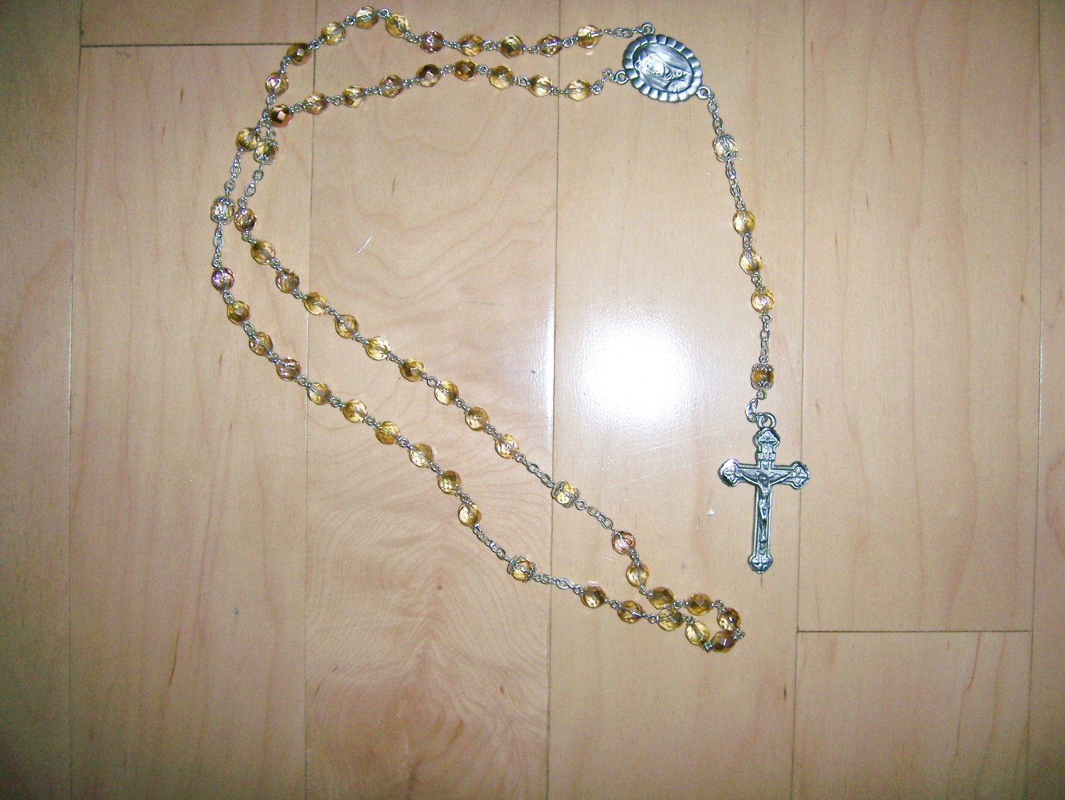 Rosary Gold Tone Crystal Beads  BNK1451