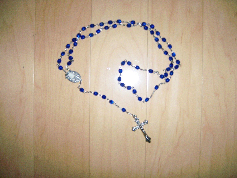 Rosary Navy Crystal Beads  BNK1453