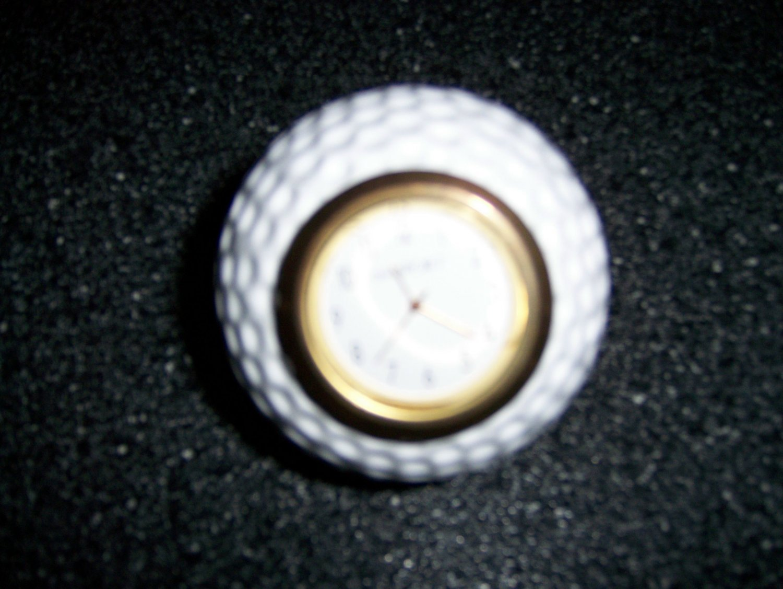 "Golf Ball Shaped Clock 3"" By Dansport  BNK1464"