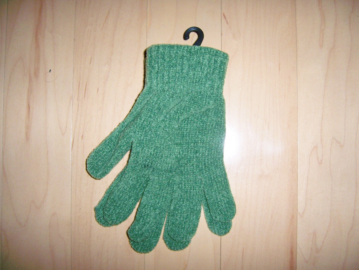 Mittens Green Chenille Acrylic Fits All  BNK1476