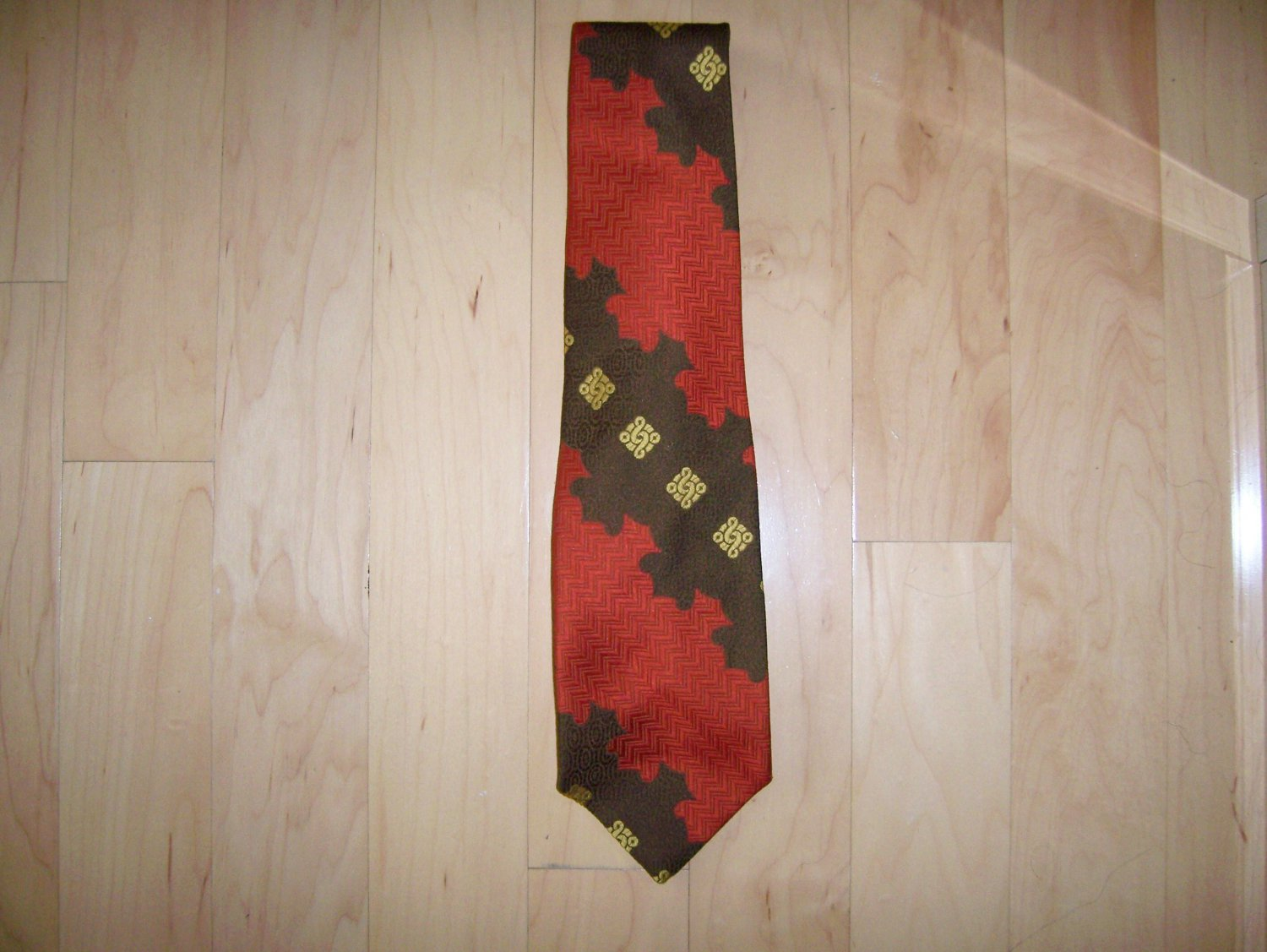 Tie Red/Brown/Gold By Towncraft  BNK1487