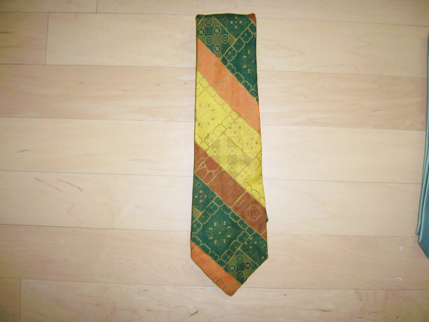 Tie Brown/Orange And Gold By Lord Copley  BNK1493