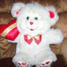 White Teddy Bear With I Love You Heart  BNK1525