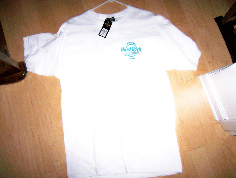 Hard Rock Shirt White With Blue Logo Large BNK1565