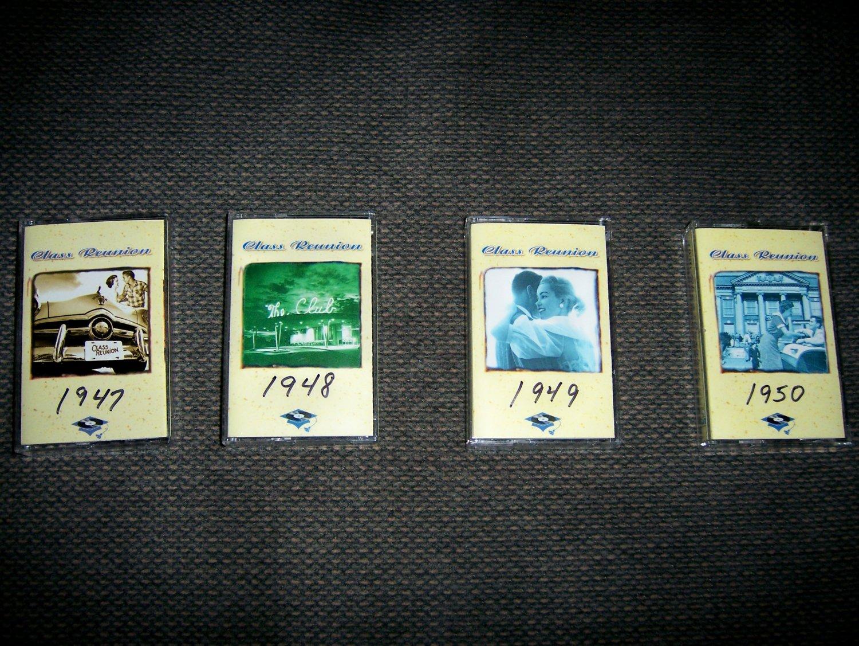 Cassettes Class Reunion 1947-1948-1949-1950 Set Of 4  BNK1603