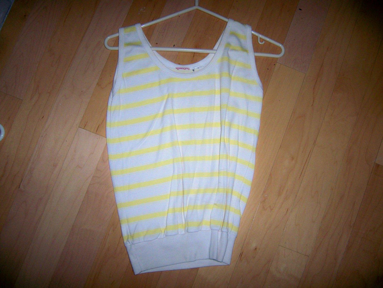 Ladies Tank Top Size 10 Yellow/White BNK1616