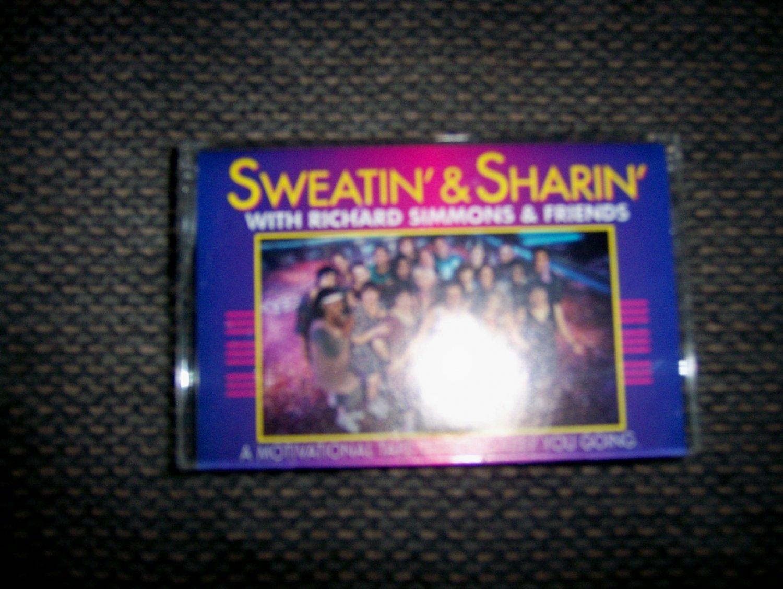 """Cassette """"Sweatin & Sharin"""" Richard Simmons & Friends"""" BNK1650"""