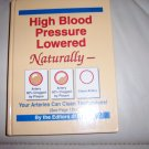 High Blood Pressure Lowered Naturally  Hard Cover Brand New Book BNK2268