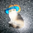 "Magnet 3""x1"" Black/White Cat W  Blue & Gold Hat BNK2712"